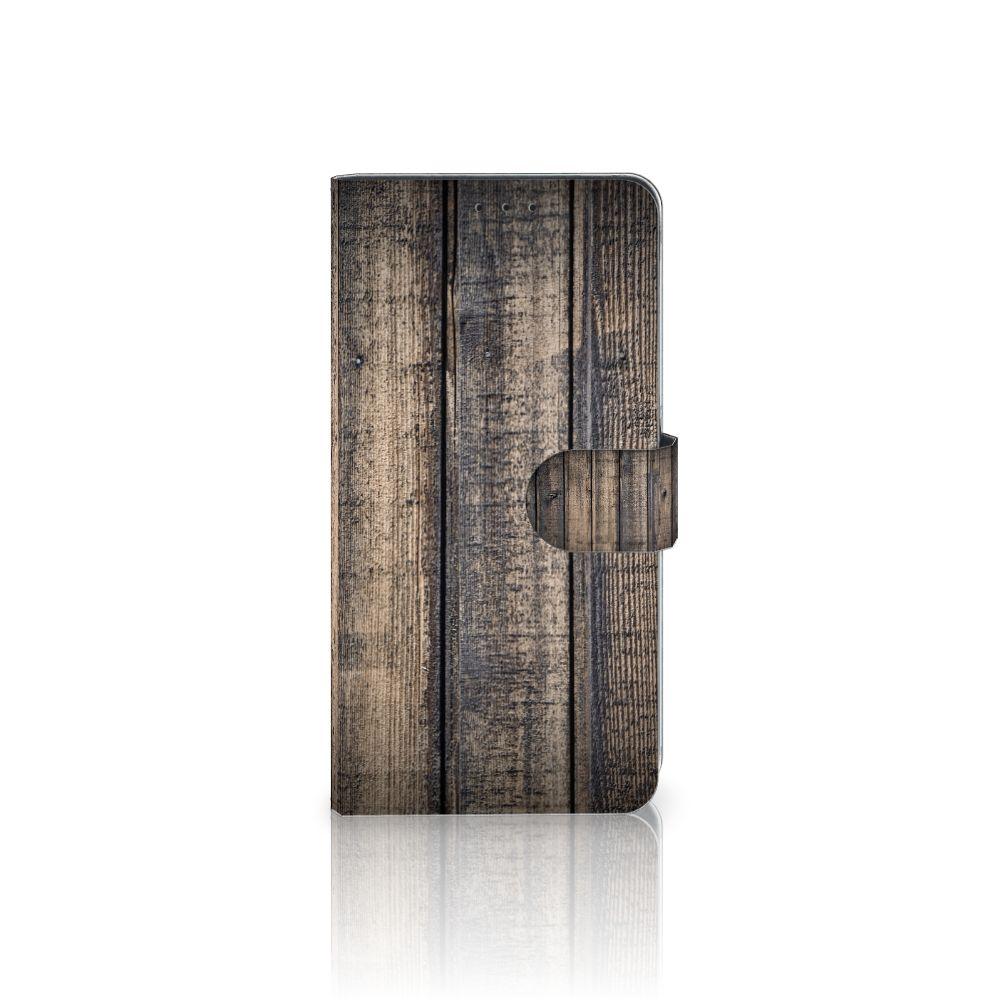 Samsung Galaxy A8 Plus (2018) Boekhoesje Design Steigerhout