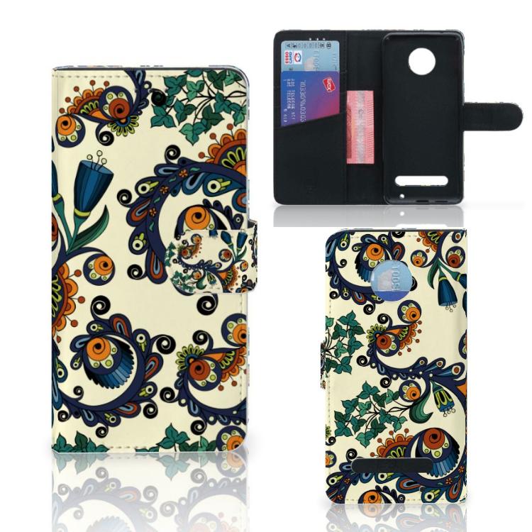 Wallet Case Motorola Moto Z2 Play Barok Flower