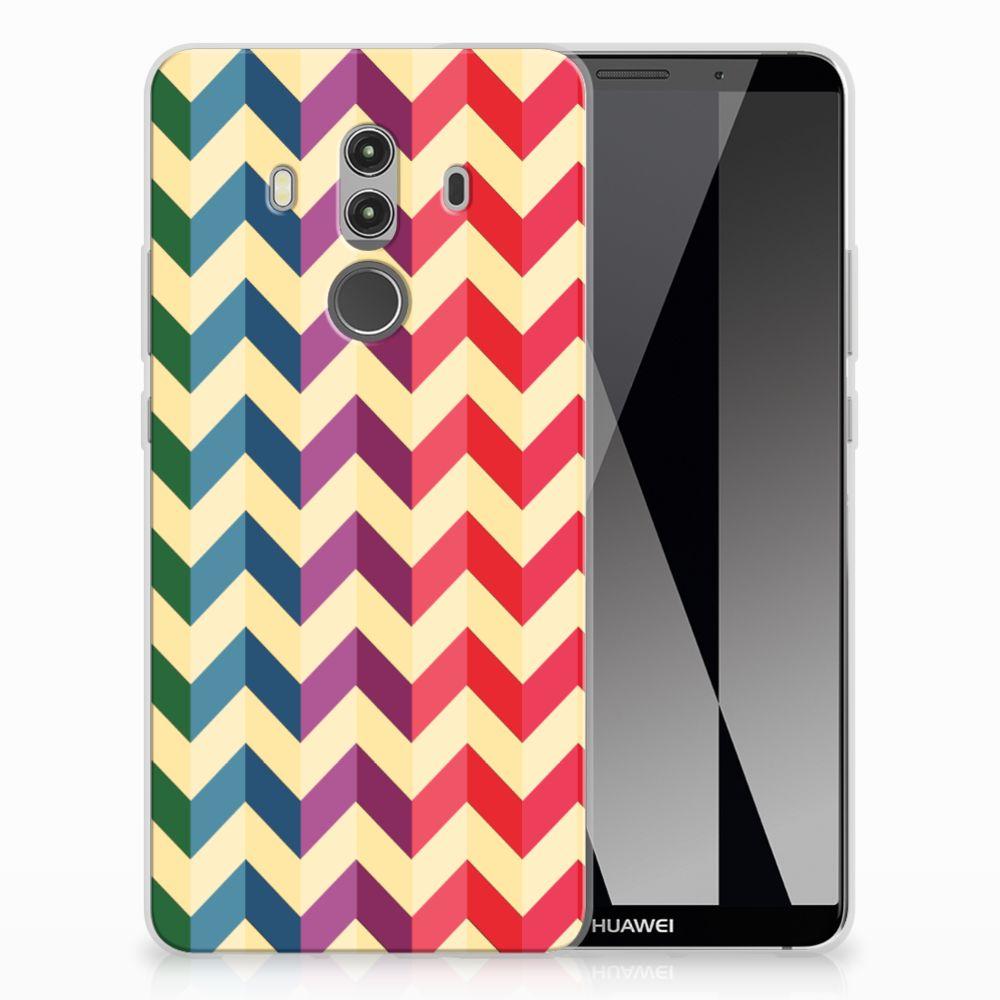 Huawei Mate 10 Pro TPU bumper Zigzag Multi Color