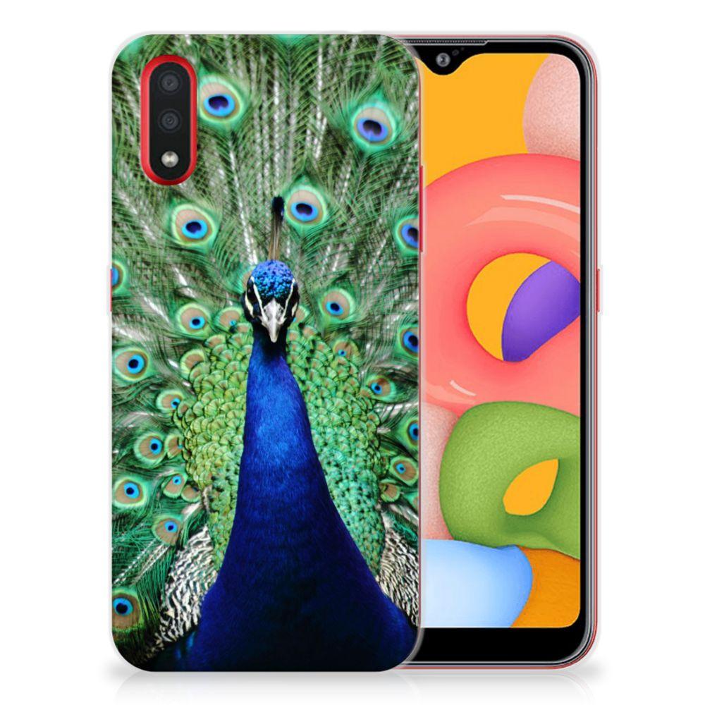 Samsung Galaxy A01 TPU Hoesje Pauw