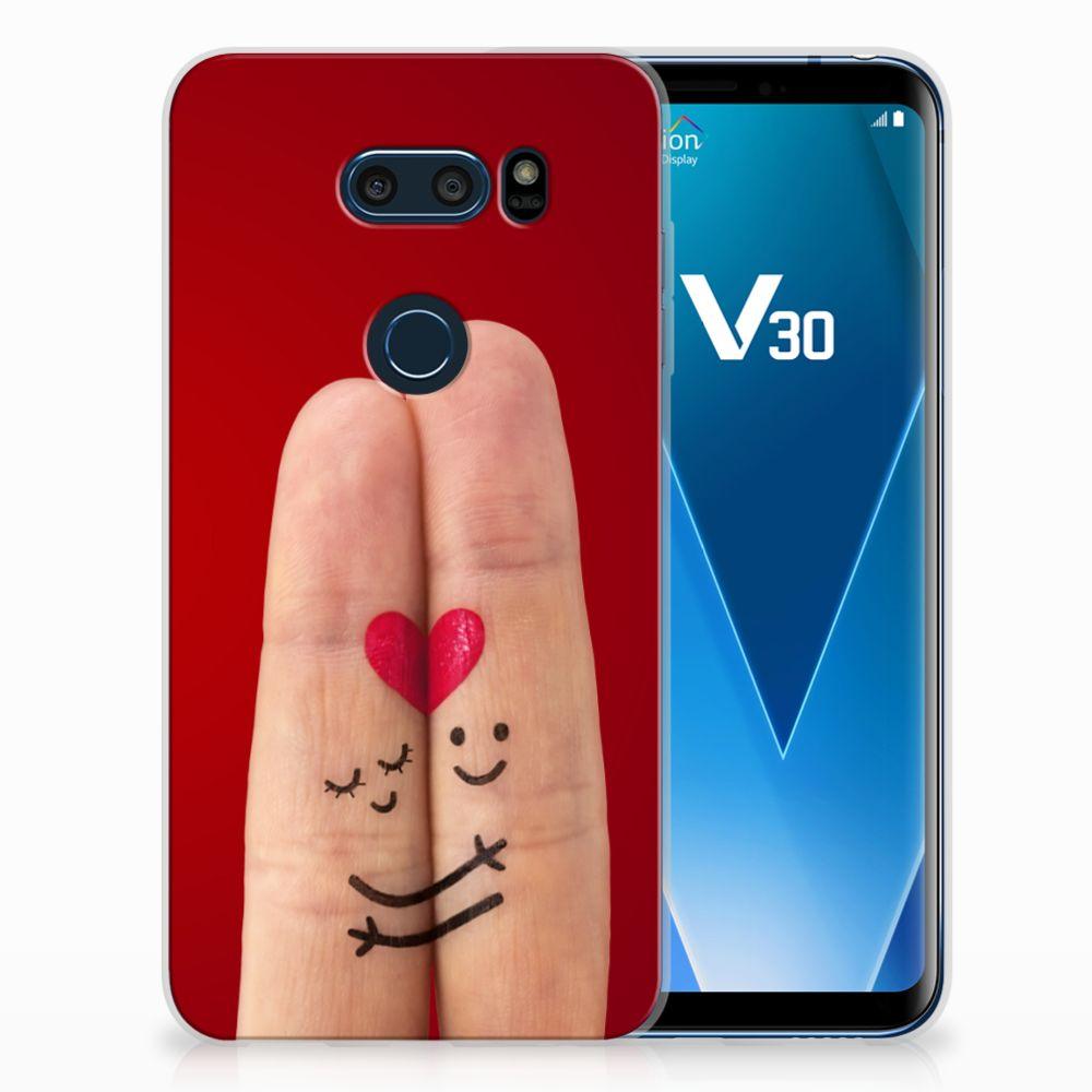 LG V30 Uniek TPU Hoesje Liefde