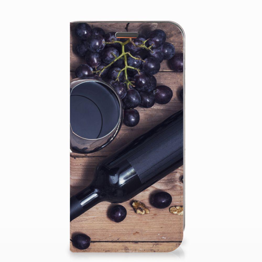 Motorola Moto E5 Play Flip Style Cover Wijn