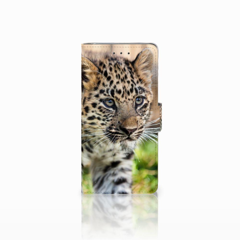 Samsung Galaxy Grand Prime | Grand Prime VE G531F Telefoonhoesje met Pasjes Baby Luipaard