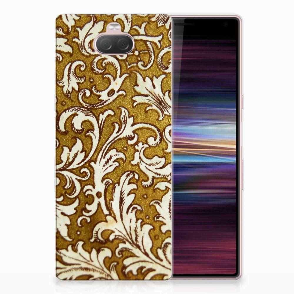 Siliconen Hoesje Sony Xperia 10 Barok Goud