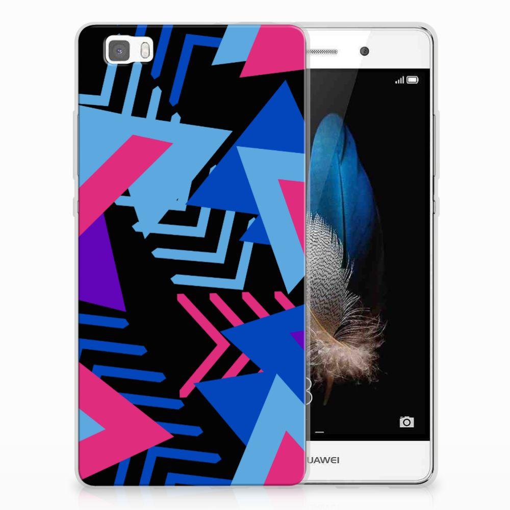 Huawei Ascend P8 Lite TPU Hoesje Funky Triangle