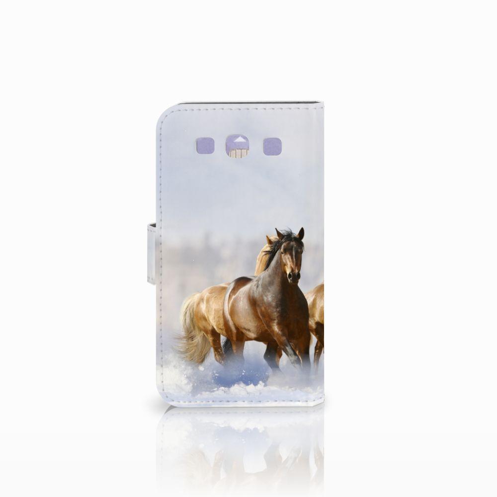 Samsung Galaxy S3 i9300 Telefoonhoesje met Pasjes Paarden
