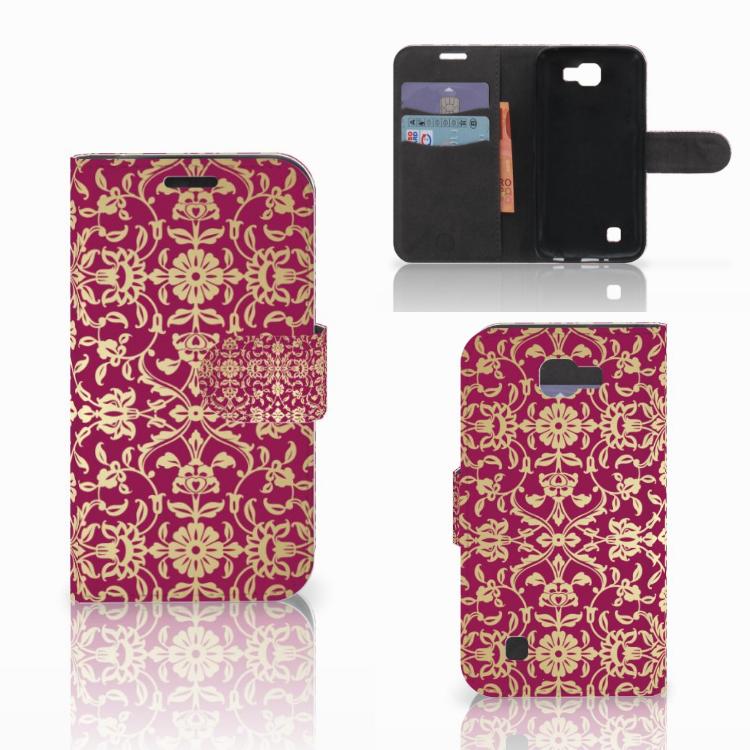 Wallet Case LG K4 Barok Pink