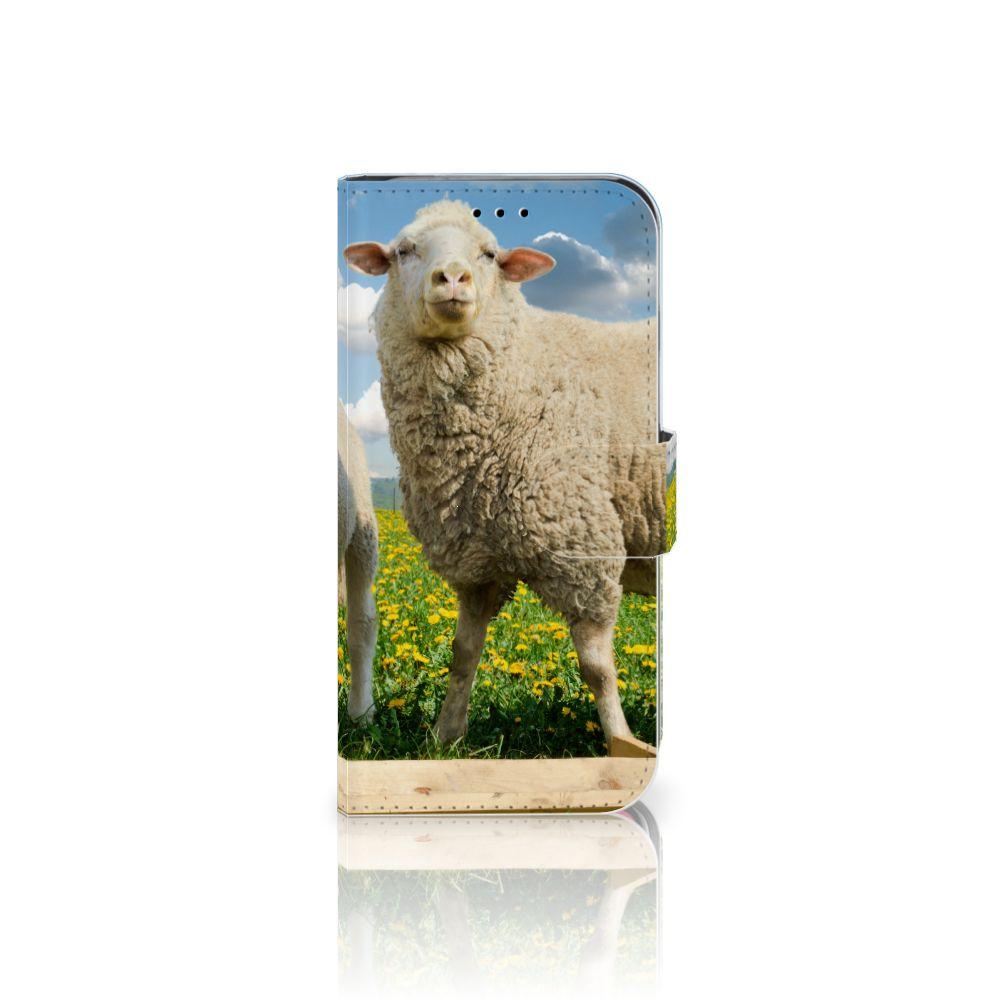 Apple iPhone X | Xs Telefoonhoesje met Pasjes Schaap en Lammetje