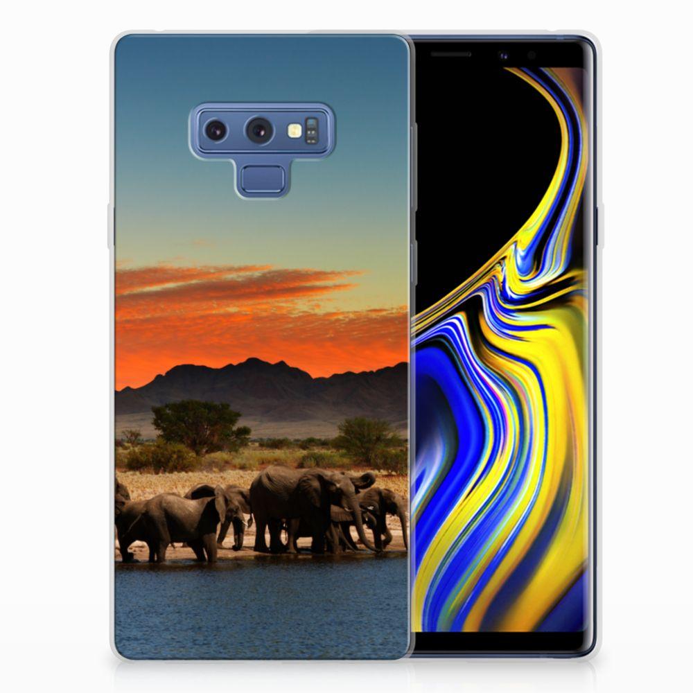 Samsung Galaxy Note 9 TPU Hoesje Design Olifanten