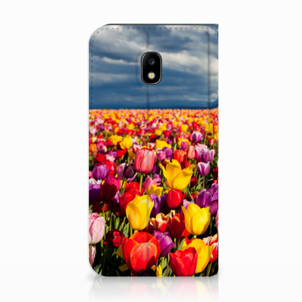 Samsung Galaxy J3 2017 Uniek Standcase Hoesje Tulpen