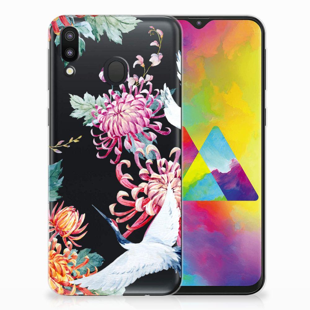 Samsung Galaxy M20 (Power) Leuk Hoesje Bird Flowers