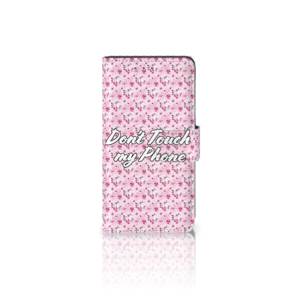 Motorola Moto G 3e Generatie Uniek Boekhoesje Flowers Pink DTMP