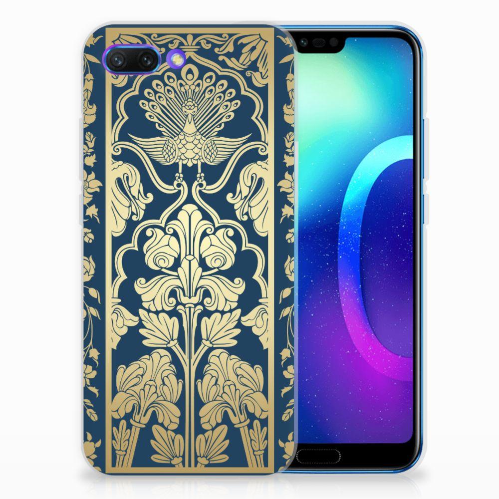 Huawei Honor 10 TPU Hoesje Golden Flowers