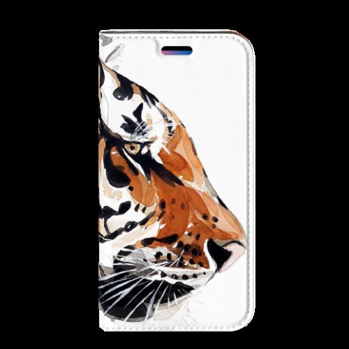 Apple iPhone X   Xs Uniek Standcase Hoesje Watercolor Tiger
