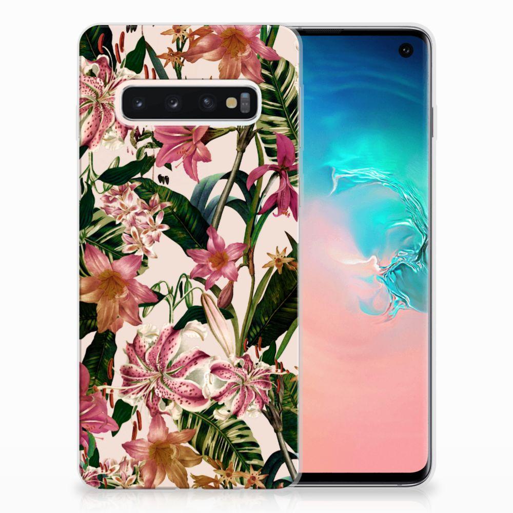 Samsung Galaxy S10 Uniek TPU Hoesje Flowers