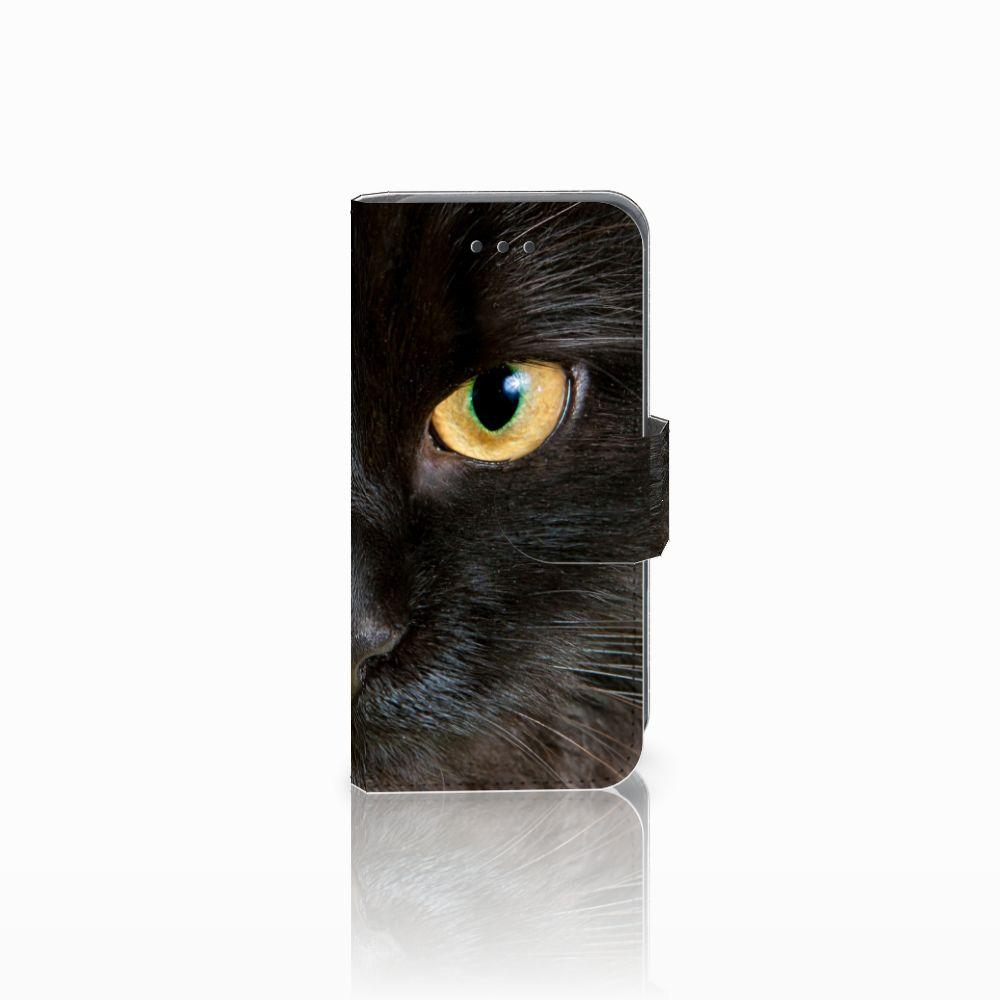 Apple iPod Touch 5 | 6 Uniek Boekhoesje Zwarte Kat