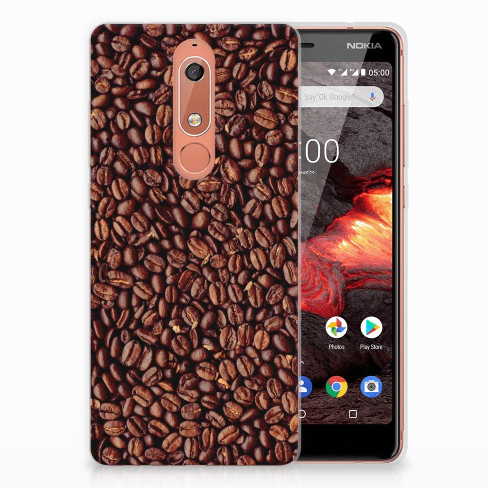 Nokia 5.1 (2018) Siliconen Case Koffiebonen