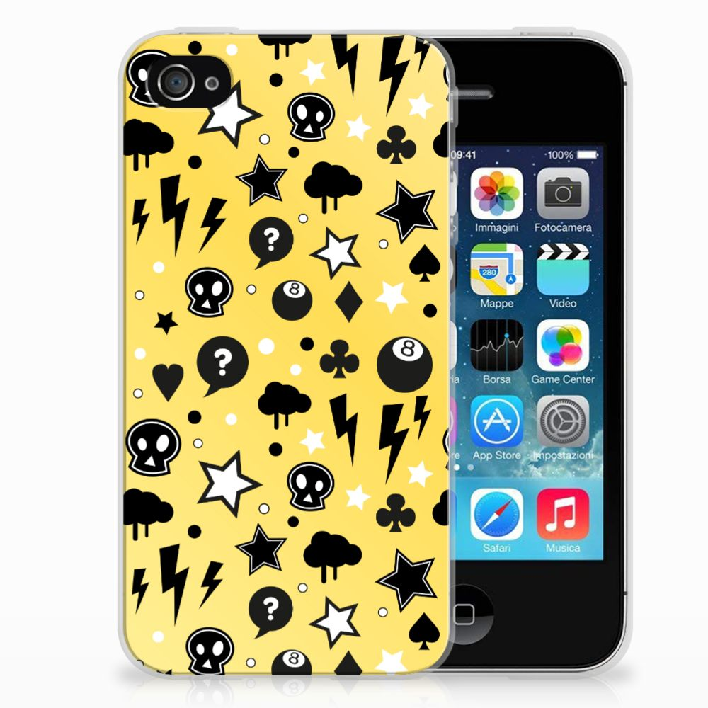 Silicone Back Case Apple iPhone 4 | 4s Punk Geel