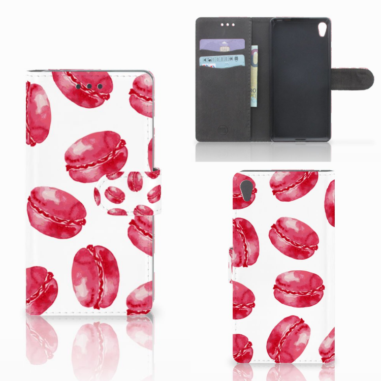 Sony Xperia E5 Book Cover Pink Macarons