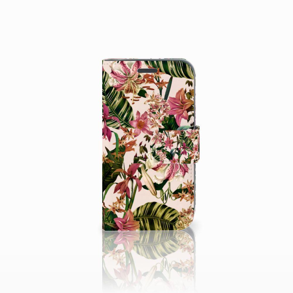 Samsung Galaxy J1 2016 Uniek Boekhoesje Flowers