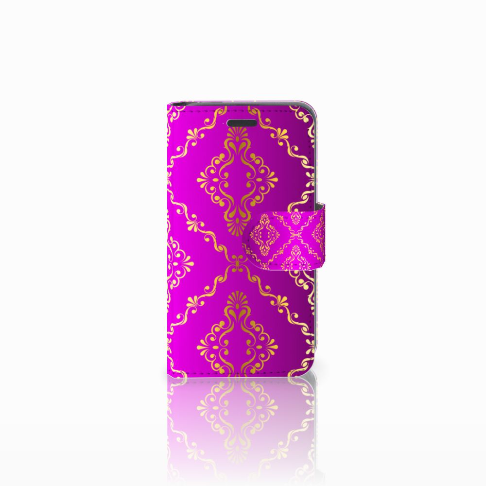 Wallet Case Nokia Lumia 520 Barok Roze
