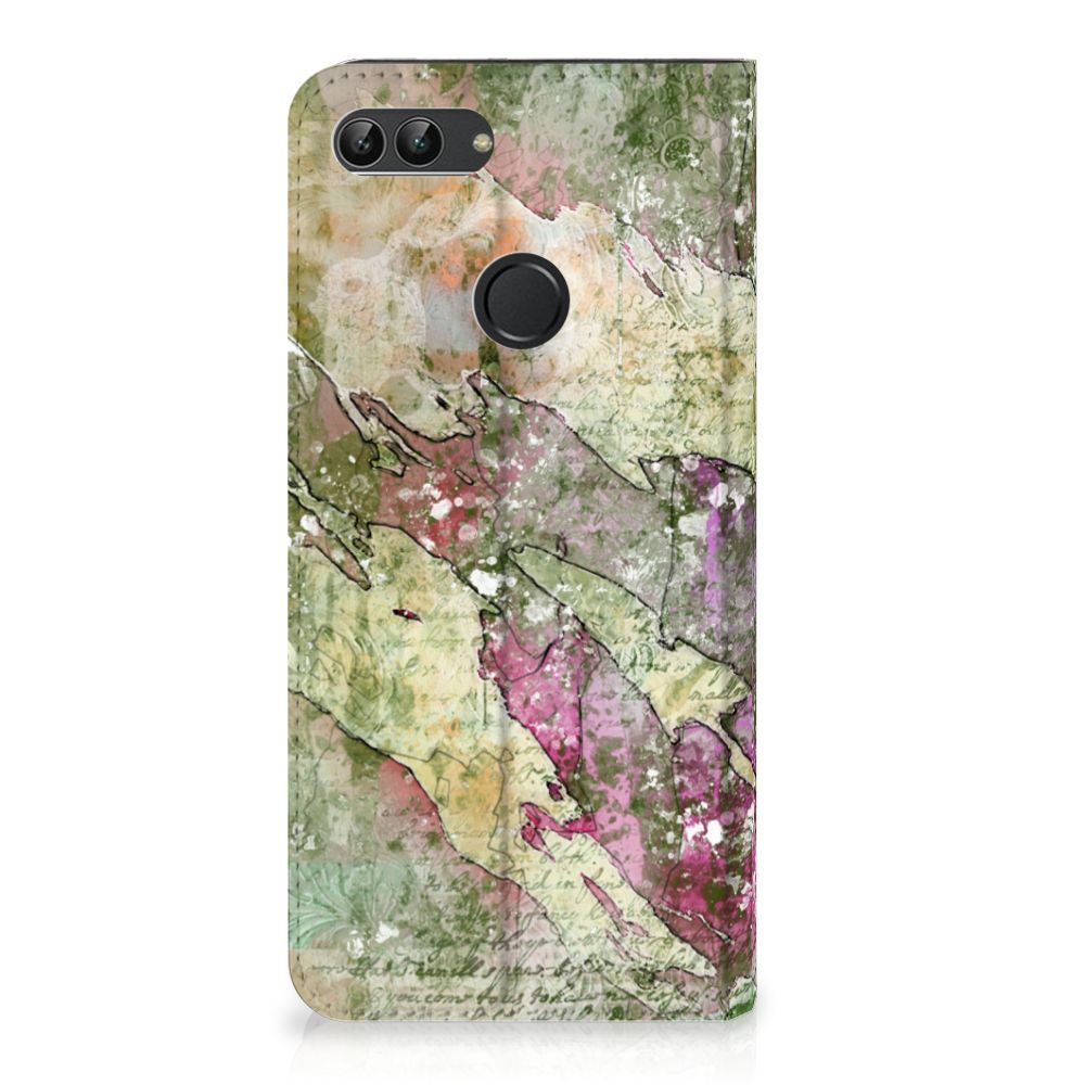 Huawei P Smart Uniek Standcase Hoesje Letter Painting