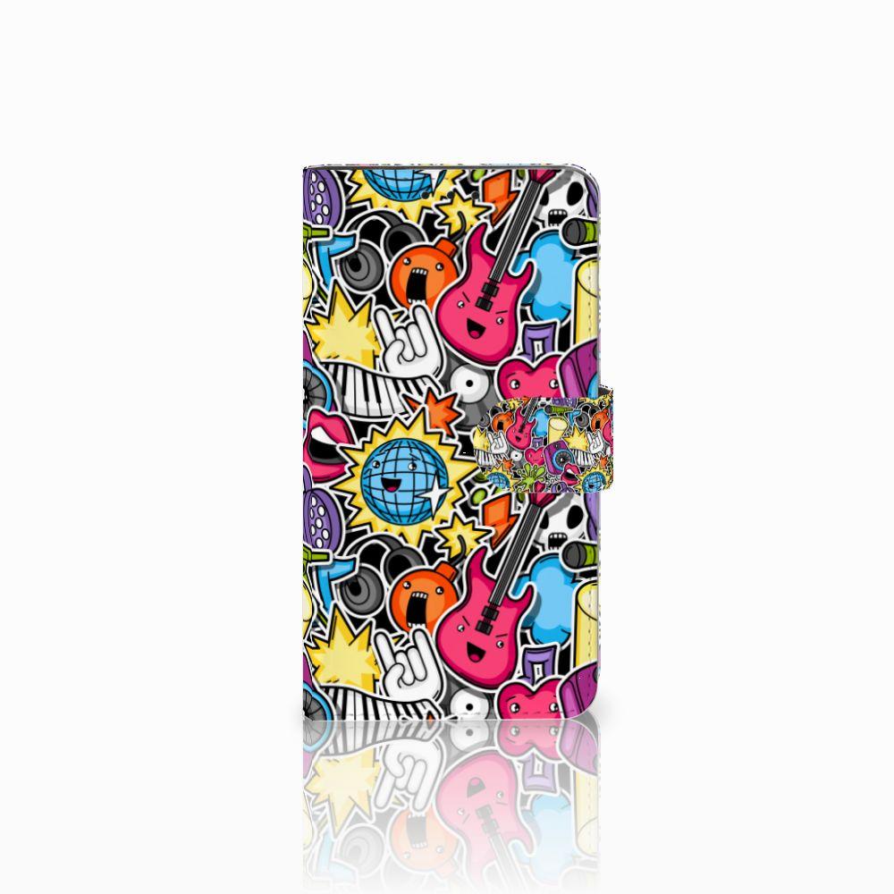 Huawei Honor 6X Uniek Boekhoesje Punk Rock