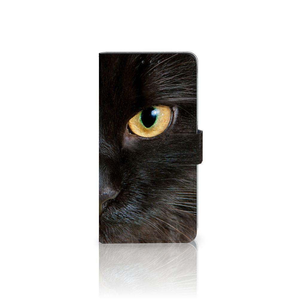 Samsung Galaxy A8 Plus (2018) Uniek Boekhoesje Zwarte Kat