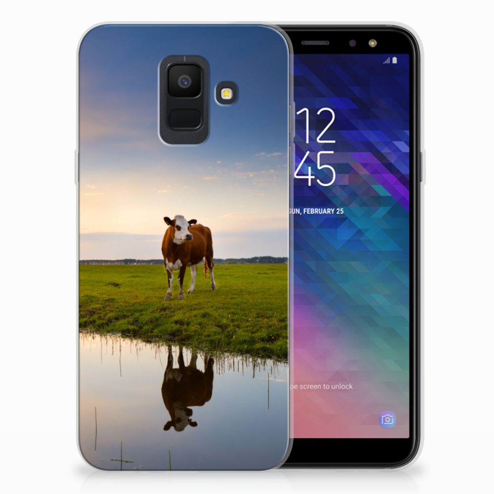 Samsung Galaxy A6 (2018) TPU Hoesje Design Koe