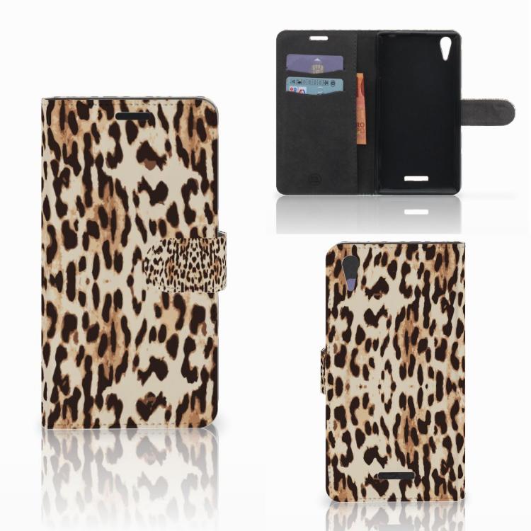 Sony Xperia T3 Telefoonhoesje met Pasjes Leopard