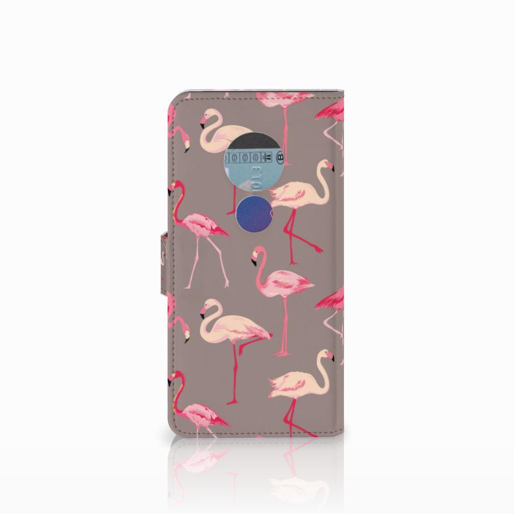 Motorola Moto E5 Telefoonhoesje met Pasjes Flamingo