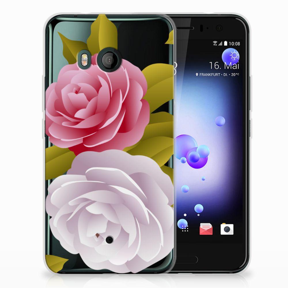 HTC U11 Uniek TPU Hoesje Roses