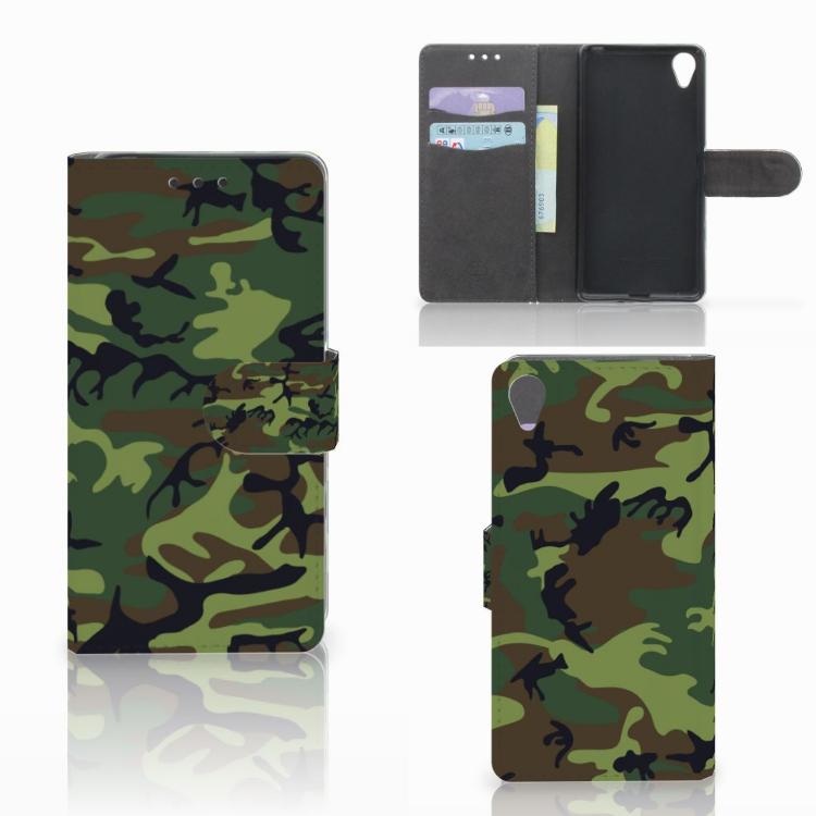 Sony Xperia X Telefoon Hoesje Army Dark