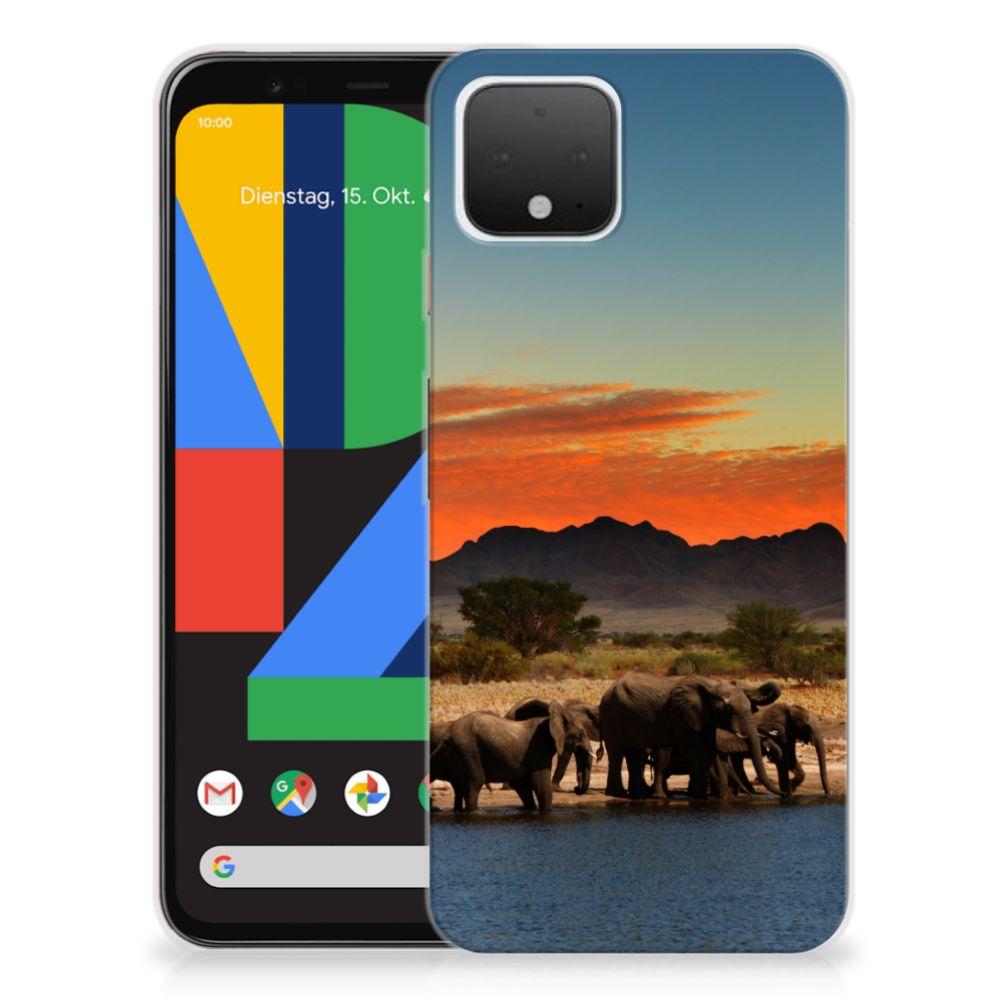 Google Pixel 4 TPU Hoesje Olifanten