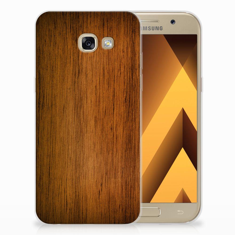 Samsung Galaxy A5 2017 Uniek TPU Hoesje Donker Hout