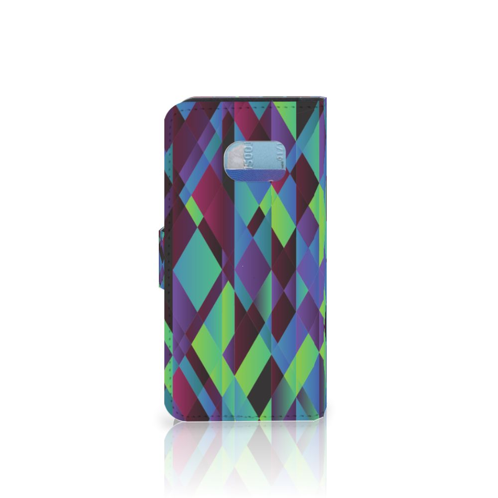 Samsung Galaxy S6 Edge Bookcase Abstract Green Blue