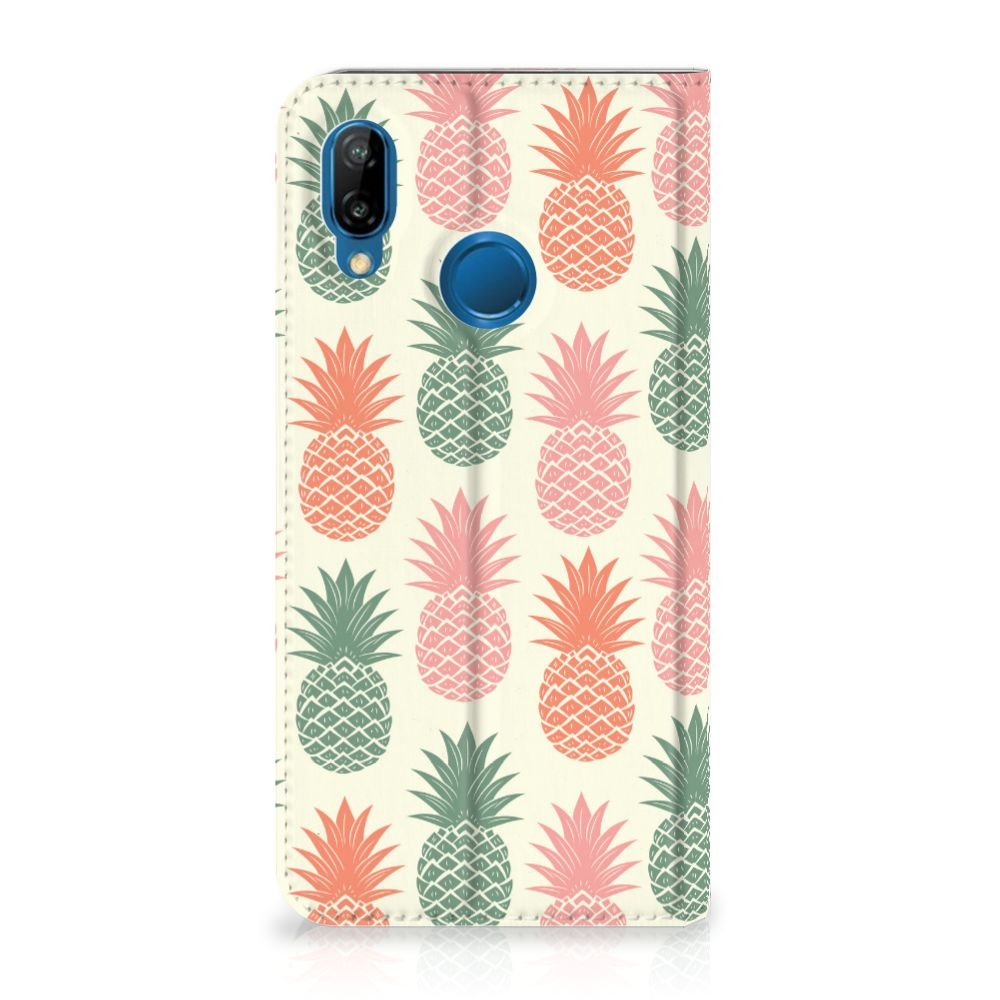 Huawei P20 Lite Standcase Hoesje Design Ananas