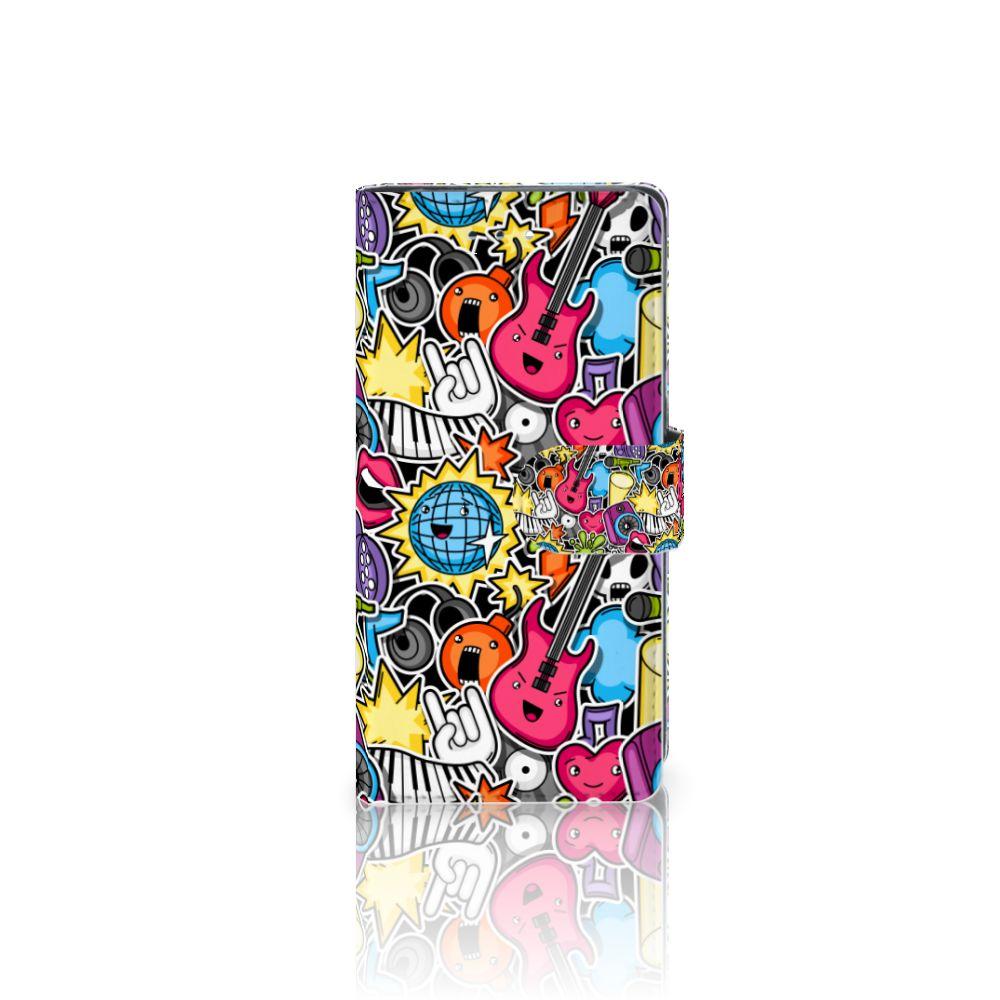 Huawei P9 Uniek Boekhoesje Punk Rock