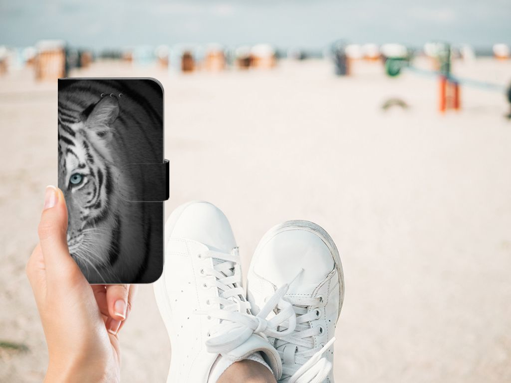 Apple iPhone X | Xs Telefoonhoesje met Pasjes Tijger
