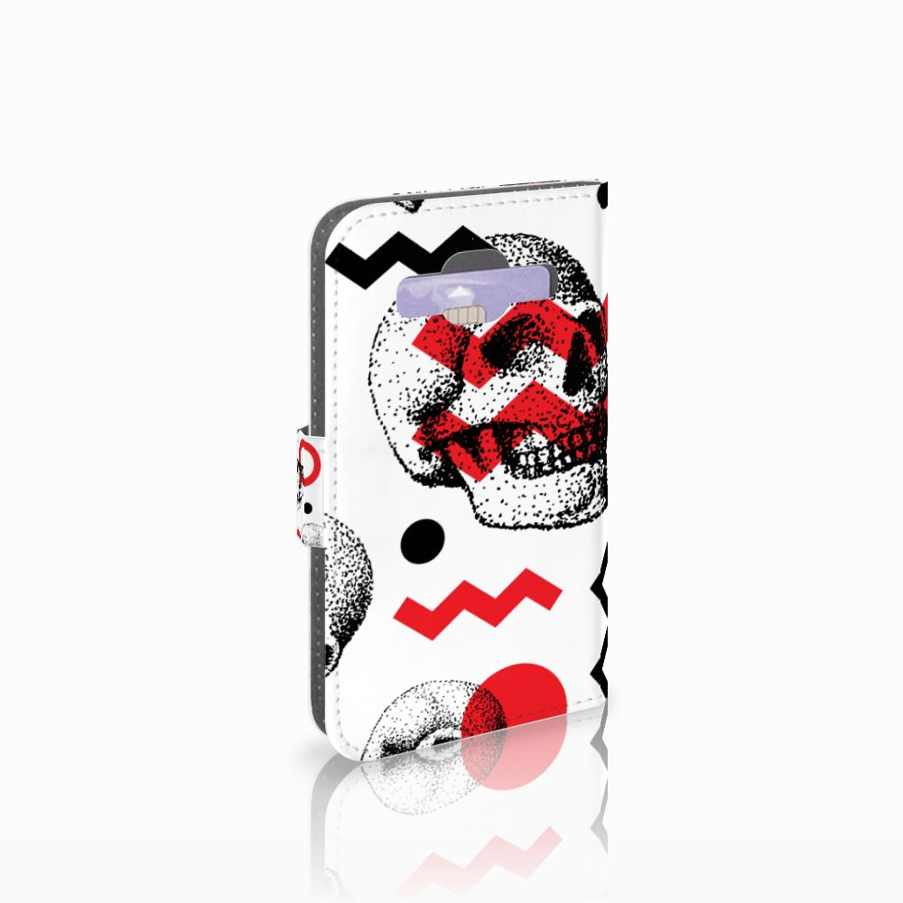 Samsung Galaxy Core Prime Boekhoesje Design Skull Red