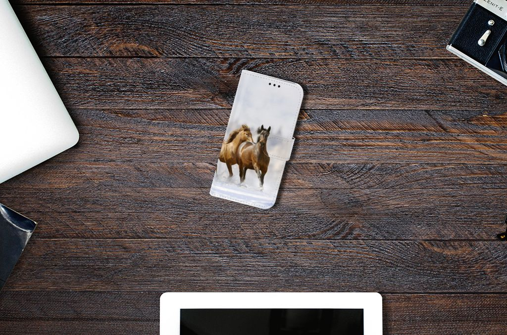 Samsung Galaxy A5 2017 Telefoonhoesje met Pasjes Paarden