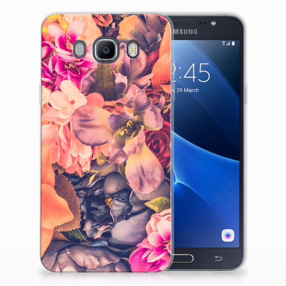 Samsung Galaxy J7 2016 TPU Hoesje Design Bosje Bloemen