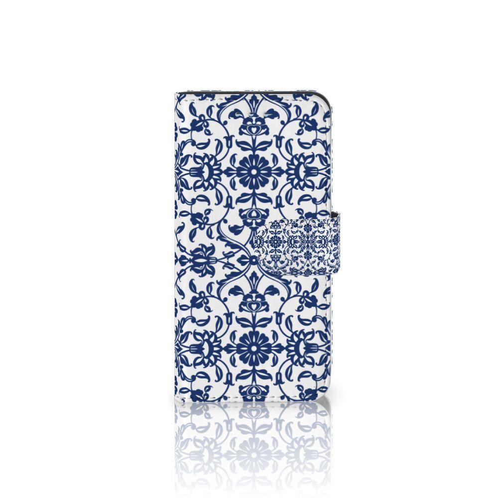 Samsung Galaxy S6 | S6 Duos Uniek Boekhoesje Flower Blue