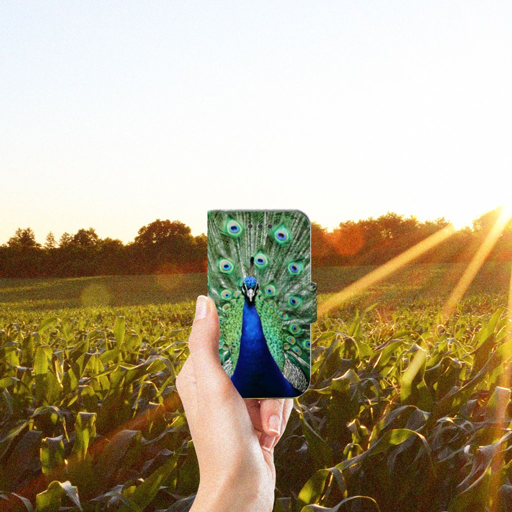 Samsung Galaxy Core 2 Telefoonhoesje met Pasjes Pauw