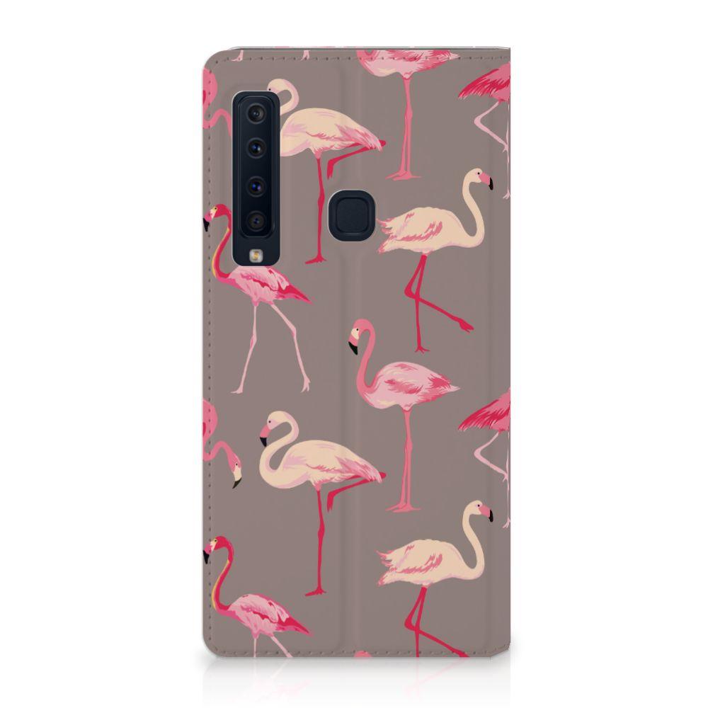 Samsung Galaxy A9 (2018) Uniek Standcase Hoesje Flamingo