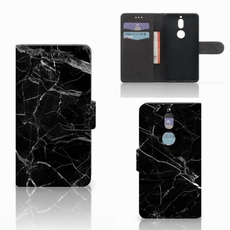 Nokia 7 Bookcase Marmer Zwart