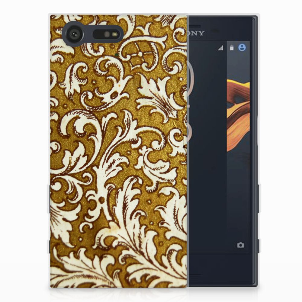 Siliconen Hoesje Sony Xperia X Compact Barok Goud