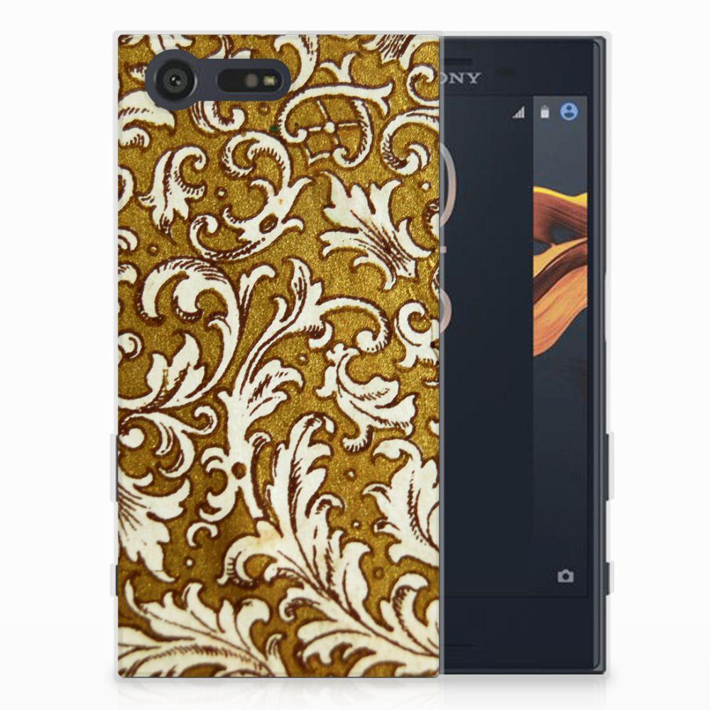 Siliconen Hoesje Sony Xperia X Compact Barok Goud