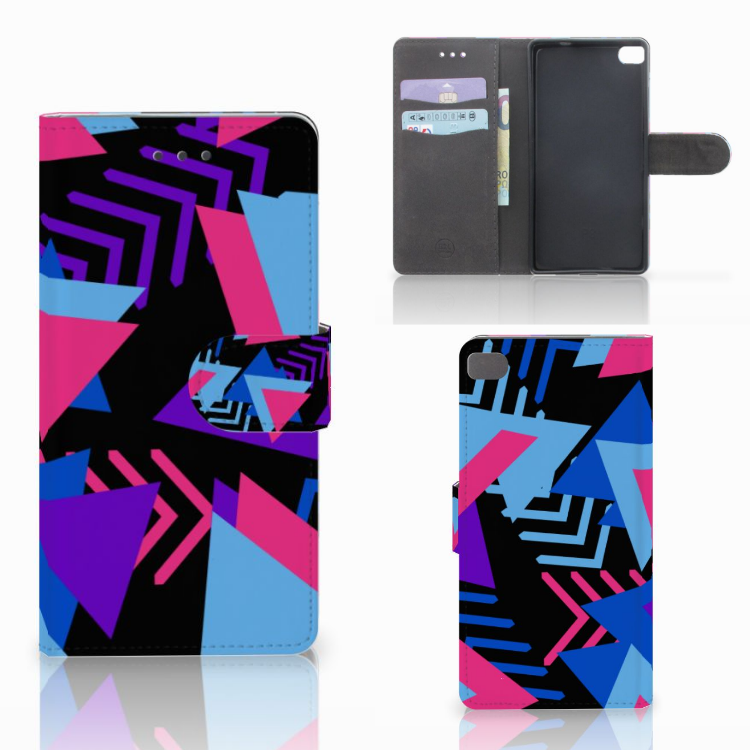 Huawei P8 Bookcase Funky Triangle