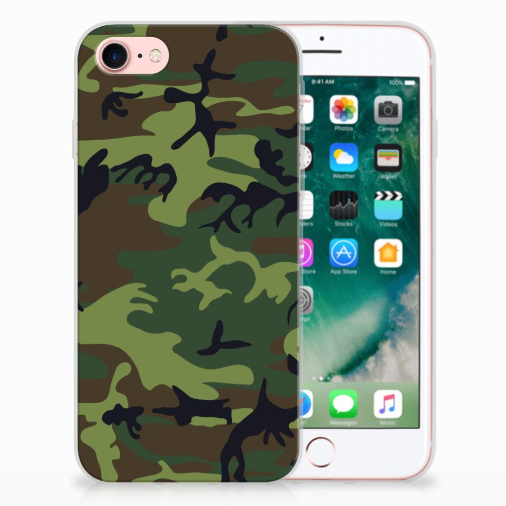 Apple iPhone 7 | 8 TPU Hoesje Design Army Dark